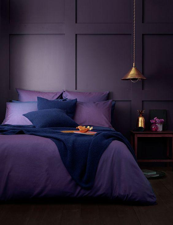 dormitorios modernos lilas
