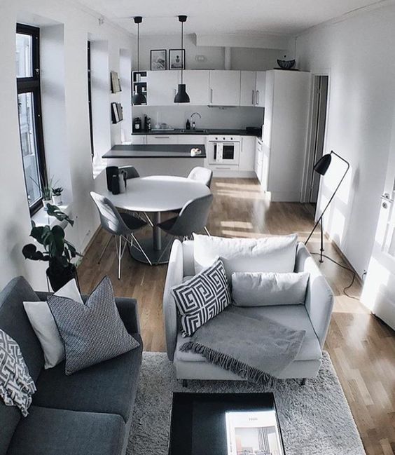 espacios abiertos sala comedor cocina