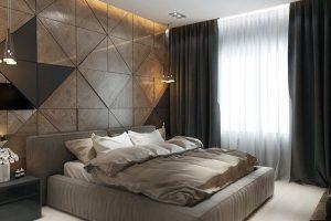 habitaciones modernas en color cafe