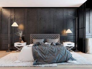 habitaciones modernas en color gris (3)