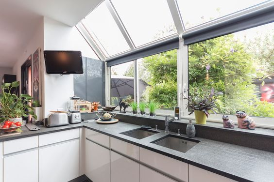 ventanas rectangulares para la cocina