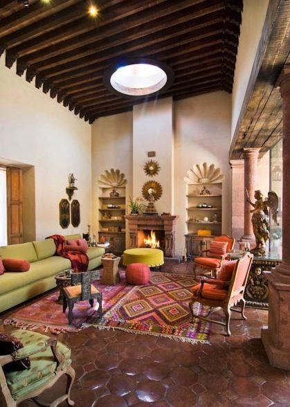 Casas estilo mexicano rustico