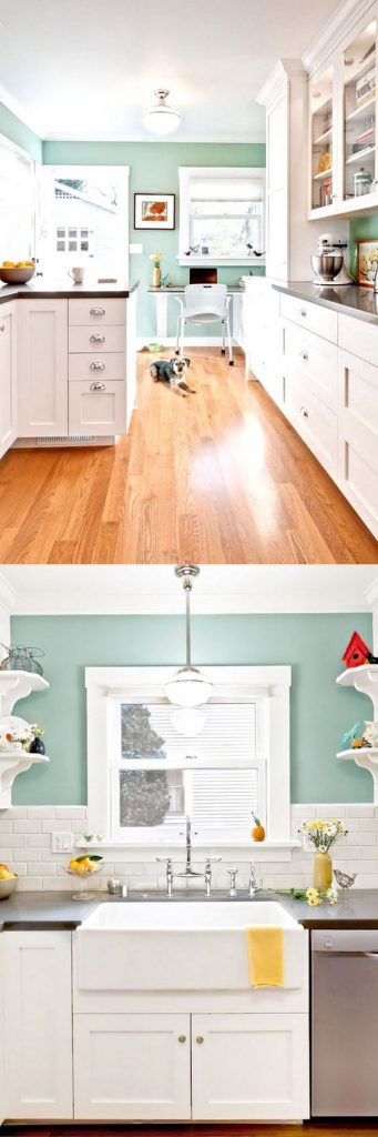 Colores de moda para paredes de cocina