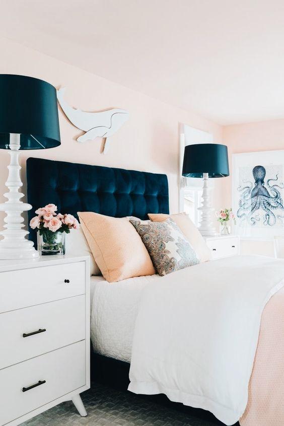 Colores de moda para paredes de dormitorios