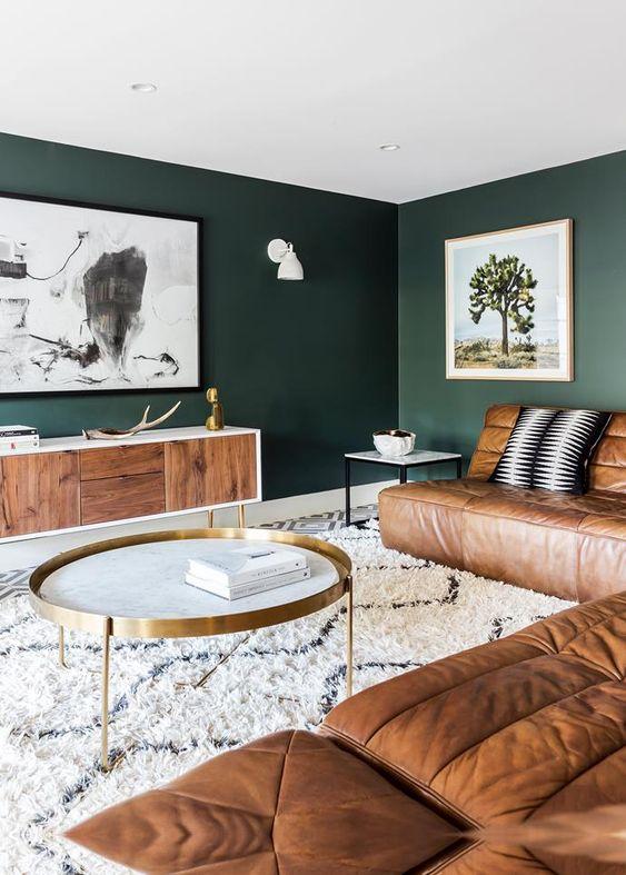 Colores de moda para paredes de sala