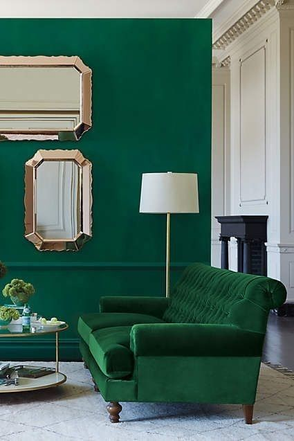 Interiores color verde arcadia o esmeralda