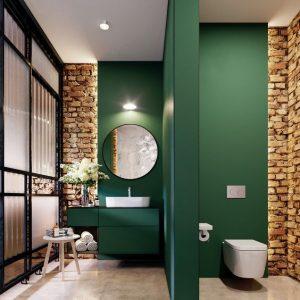 Interiores color verde oscuro