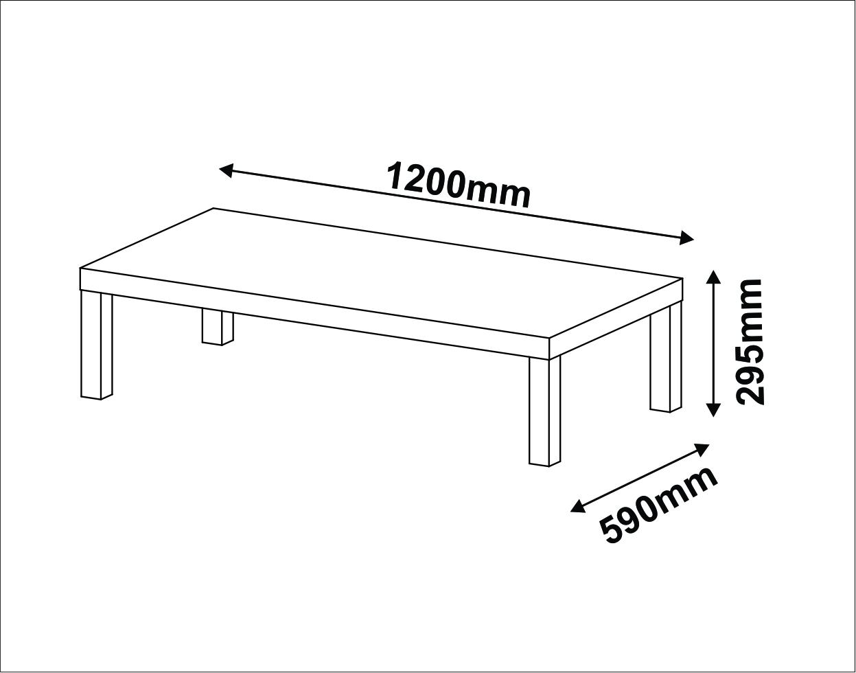 Medidas de una mesa de centro para sala