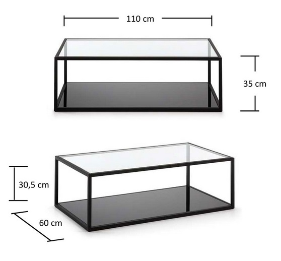 Mesa de centro dimensiones