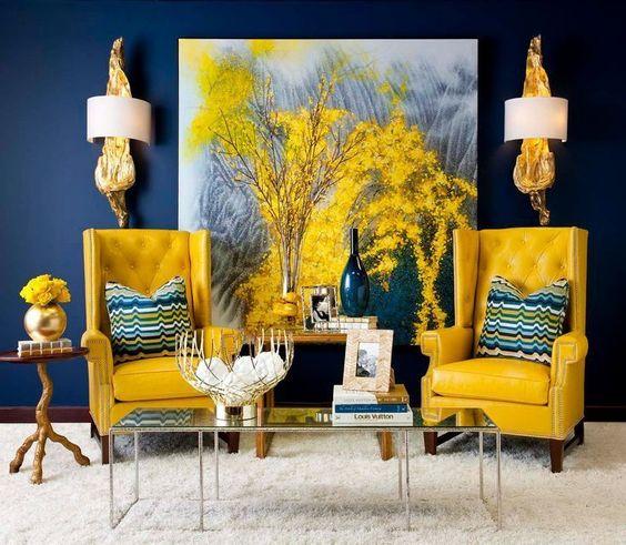 Paredes de colores brillantes tendencias de decoraci n - Paleta de colores para paredes ...