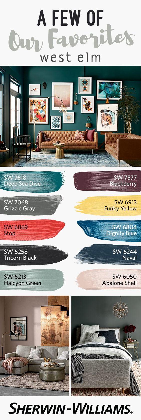 Paleta de colores para paredes