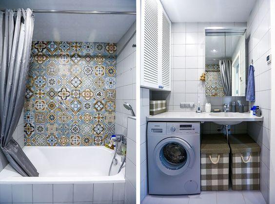 Lavadoras en el baño