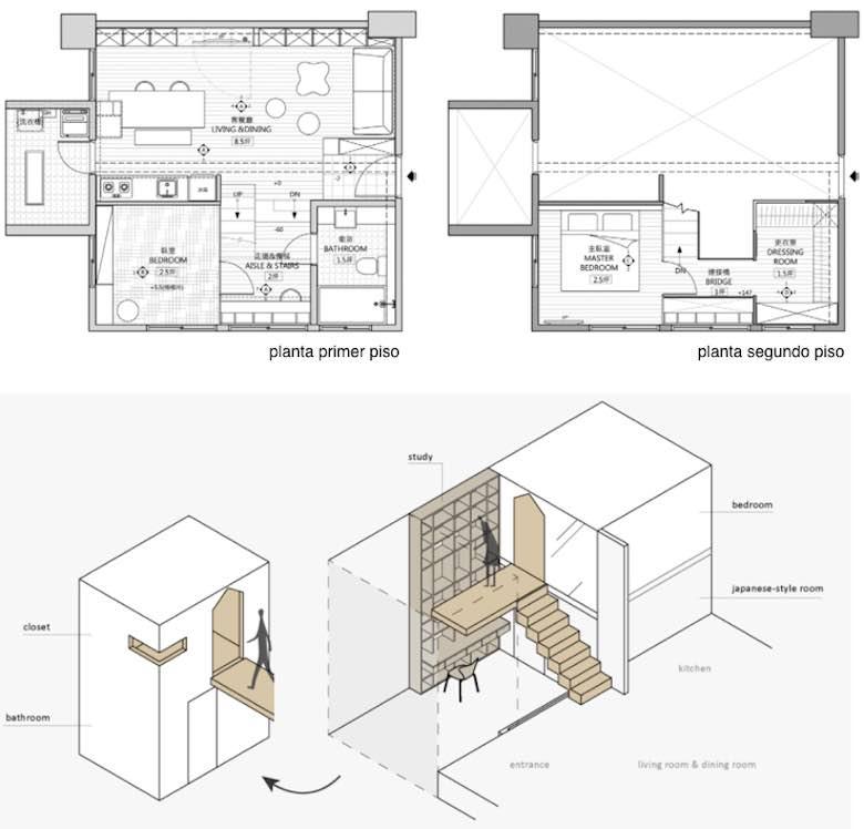 casas de dos pisos sencillas
