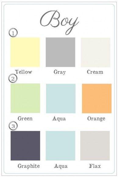 colores para cuartos de bebes niño