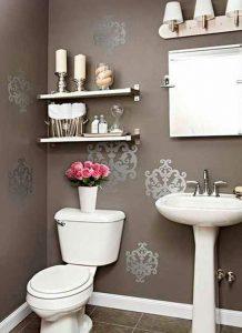 como decorar baño con tapiz
