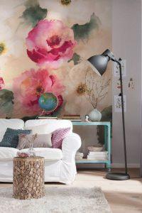 decoracion con papel tapiz