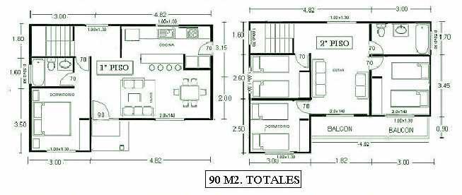 Planos de casas de dos pisos para terrenos de 86 m2 for Planos para construir una casa de un piso