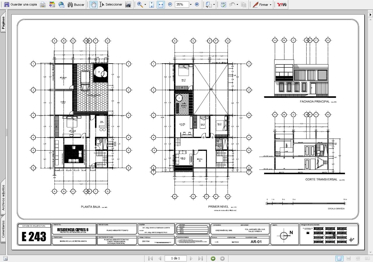 Planos de casas en pdf curso de decoracion de interiores for Planos estructurales pdf