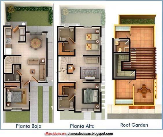 planos de casas de dos pisos gratis