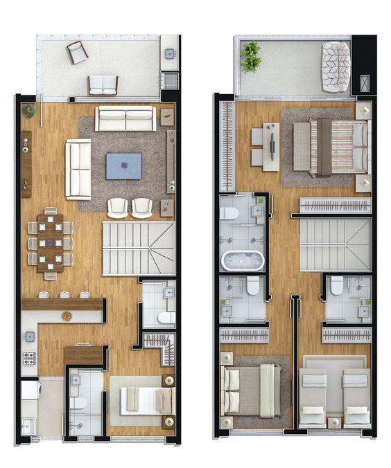 Planos de casas de dos pisos para terrenos de 86 m2 for Planos para casas de dos pisos modernas