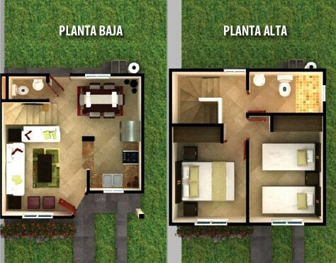 Planos de casas de dos pisos para terrenos de 86 m2 for Planos casas pequenas modernas