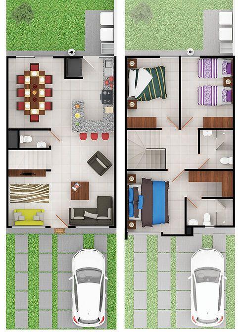 Planos de casas de dos pisos para terrenos de 86 m2 for Planos de casas pequenas de una planta