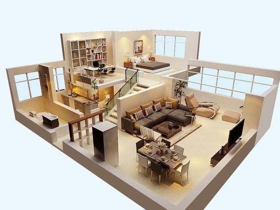 Planos de casas de dos pisos para terrenos de 86 m2 Planos interiores de casas modernas