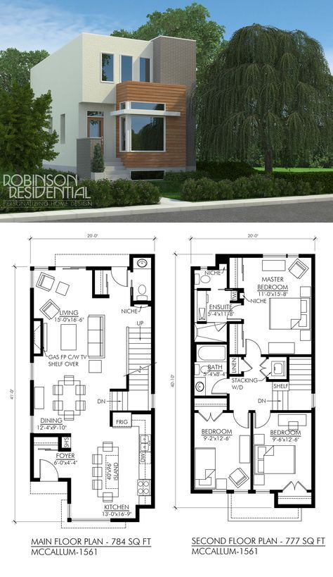 planos de casas de dos pisos sencillas