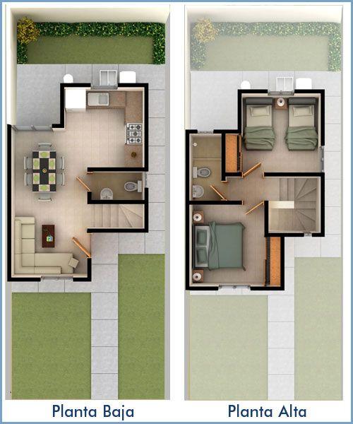 Planos de casas de dos pisos para terrenos de 86 m2 for Casa moderna 80m2