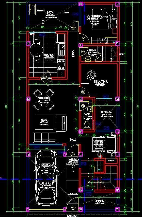 Planos de casas de dos pisos para terrenos de 86 m2 for Casa minimalista planos dwg