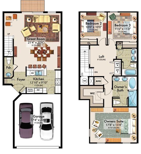planos de dos pisos con medidas