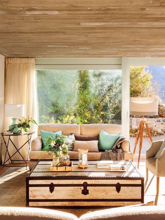 salas de estar campestres