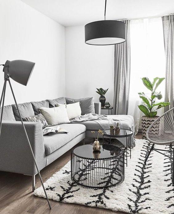Decoración con salas modulares para casas pequeñas
