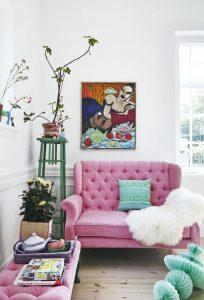 Decoración de salas pequeñas con loveseat