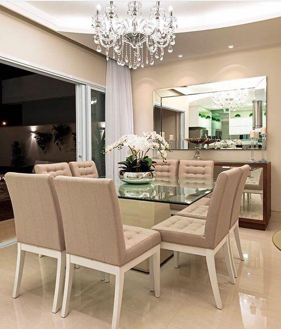 Comedores modernos de 4, 6 y 8 sillas | Elegantes, de cristal ...