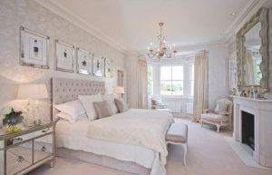 decoracion de dormitorios modernos para mujeres con espejo
