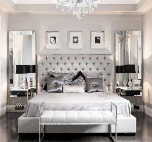 dormitorios modernos con muebles de espejo