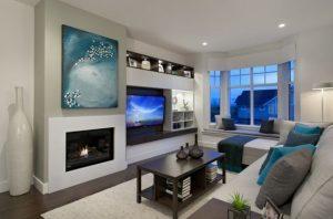 salones modernos con chimenea