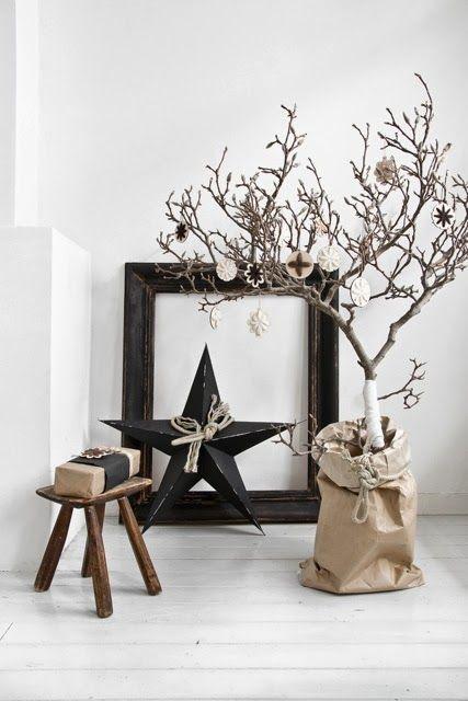 adornos navideños modernos para la sala