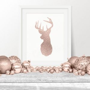 adornos navideños rosa gold