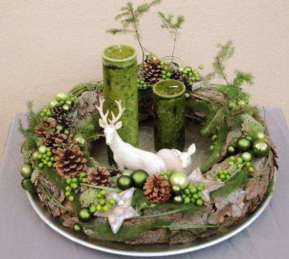 adornos navideños verdes