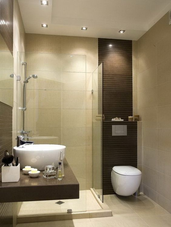 Ba os peque os modernos y funcionales curso de decoracion de interiores interiorismo - Interiorismo banos modernos ...
