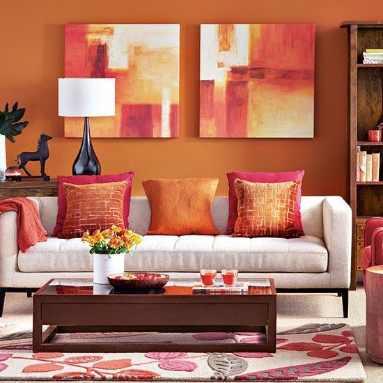 orange and red living room design decoraci 243 n de salas tendencias 2019 tips ideas y m 225 s 24644