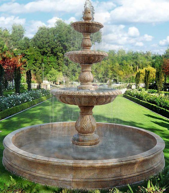 Ideas para jardines clásicos con fuentes