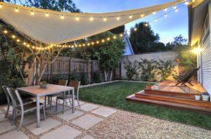 Iluminación de jardines modernos