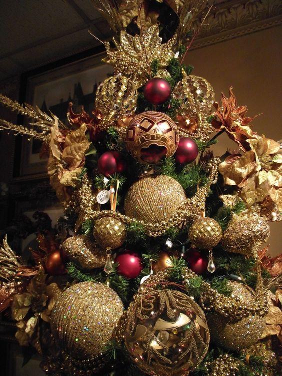 arbol de navidad arboles de navidad en color dorado