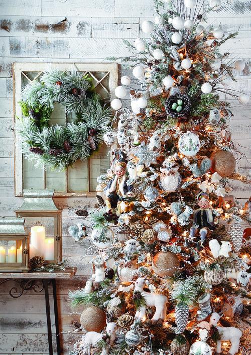 arbol de navidad dorado, cobre y plateado