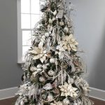 arbol de navidad plateado