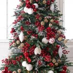 arbol de navidad rojo