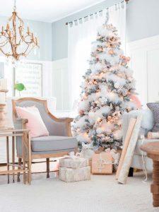 arbol de navidad rosa gold